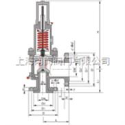 TFWA42C型磅级波纹管平衡式弹簧安全阀