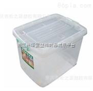 振兴 CH8843 轮滑式储物箱/白色透明塑料箱/37L家庭收纳箱/批发