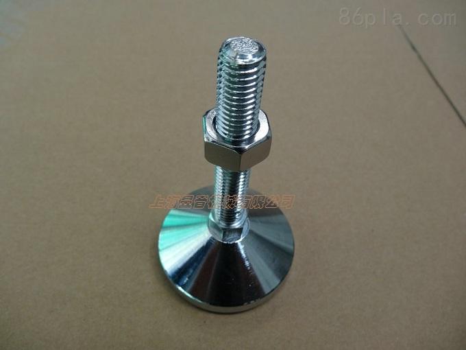 可调蹄脚又称水平调节脚,水平调节脚杯,或高度调节脚螺栓(蹄角)。是利用螺纹进行高度调节的一种部件、款式太多、一般根据需要制定不同的样式制定与定做、用于设备高低、水平、倾斜的调整。 在许多输送机械设备安装工程中,调节脚是不可缺少的附件之一,它的作用是将输送设备与基础牢固地连接起来,保持水平状态。以免设备在工作时发生位移和倾覆。 调节脚主要包括死地脚螺栓、活地脚螺栓、锚固式地脚螺栓三类。死地脚螺栓通常用于固定在工作时无冲击和振动或振动很小的中小型设备;活地脚螺栓一般用来固定工作时有强烈振动和冲击的重型设备;锚