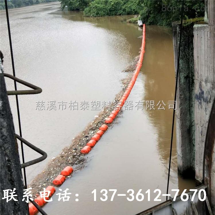大型圆柱形塑料浮桶水上拦污工程