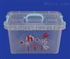 振兴 CHM8729滑轮收纳箱 白色透明塑料箱 耐用带轮家庭储物箱
